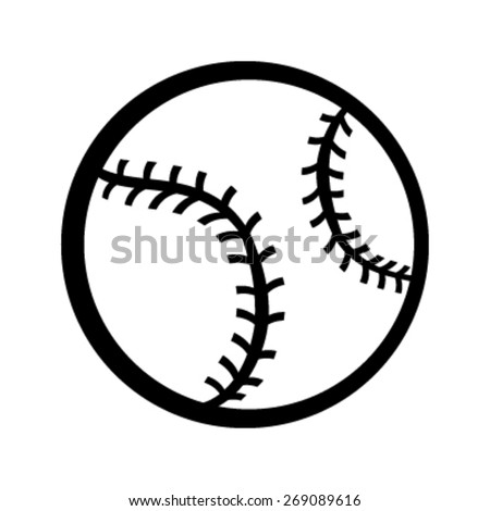 baseball vector icon stock vector hd royalty free 269089616 rh shutterstock com baseball vector art clipart baseball diamond vector art