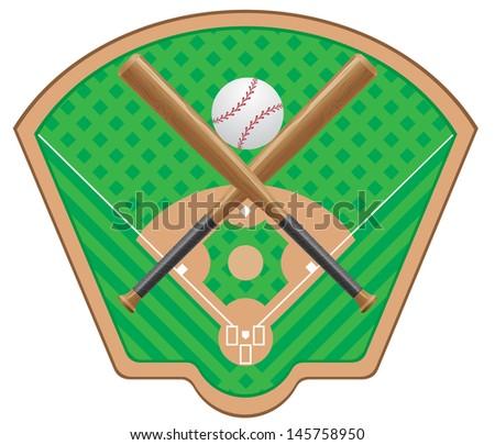 baseball vector illustration isolated on white background - stock vector