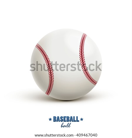 baseball vector realistic object