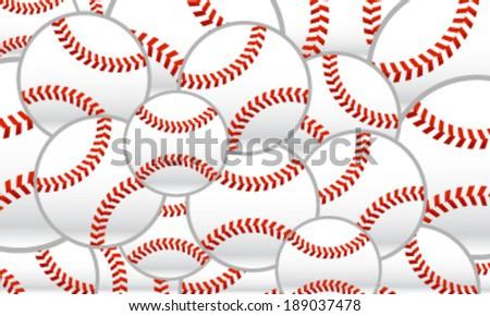 Baseballs vector background - stock vector