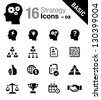 Basic -  Business strategy and management icons - stock vector