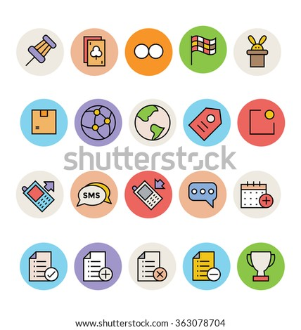 Basic Colored Vector Icons 4 - stock vector