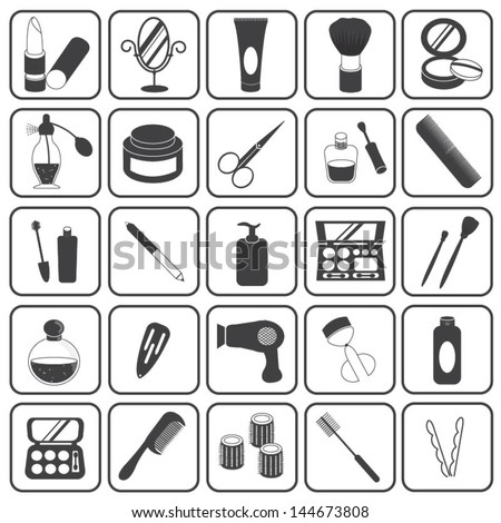 Basic Cosmetic Icons Vector Set