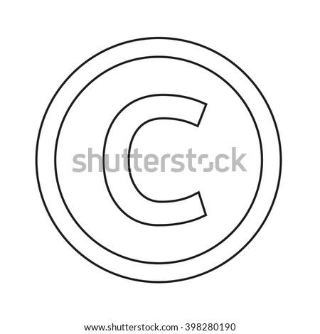 Basic font for letter C icon Illustration design