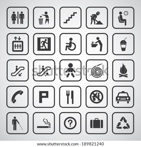 basic general icon for every place  - stock vector