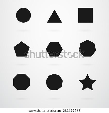 Black And White Geometric Shapes For Infants