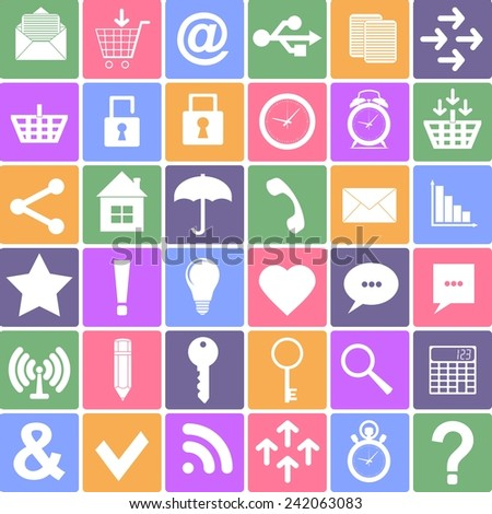 Basic icons set. Apps Smartphone sign icon.