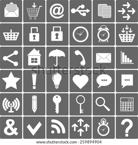 Basic Icons Set. Apps .Smartphone Sign Icon. Vector Illustration