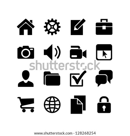 Basic Icons. Web icon set.