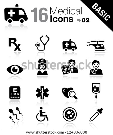 Basic - Medical icons - stock vector