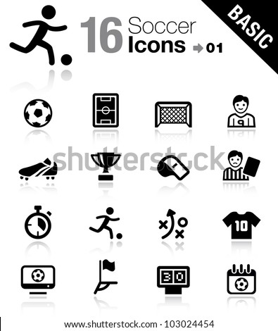 Basic - Soccer Icons - stock vector