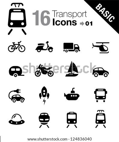Basic - Transportation icons - stock vector