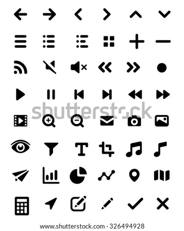 Basic UI Elements - stock vector