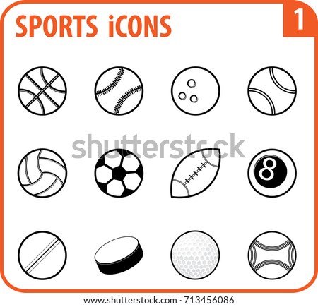 basic vector sports icon set are as follows basketball baseball bowling tennis