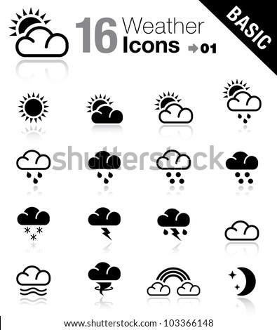 Basic - Weather icons - stock vector