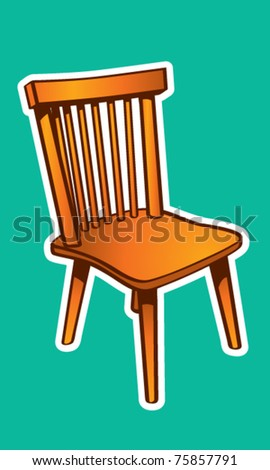 Basic Wood Chair Illustration