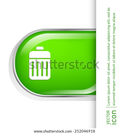basket garbage, recycling - stock vector