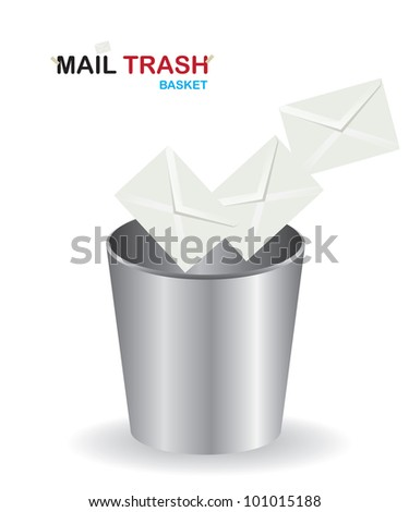 Basket mail trash - stock vector