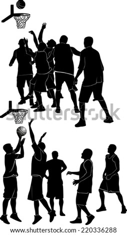 basketball - stock vector