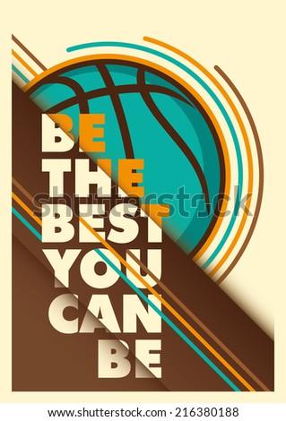 Basketball advertising poster design. Vector illustration. - stock vector
