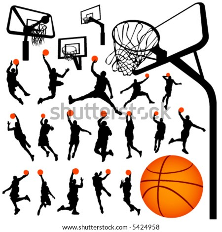 basketball and backboard vector 2