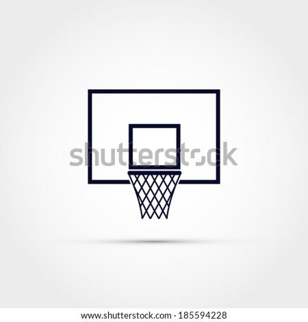 Basketball backboard icon - stock vector
