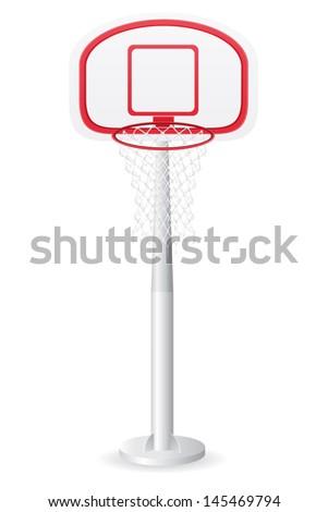 basketball backboard vector illustration isolated on white background - stock vector