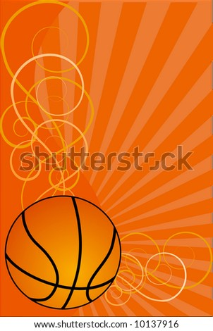 Basketball background-vector illustration - stock vector