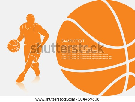 Basketball background - vector illustration - stock vector