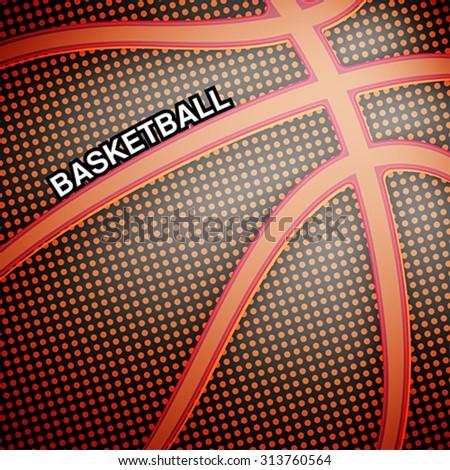 Basketball ball background, vector - stock vector
