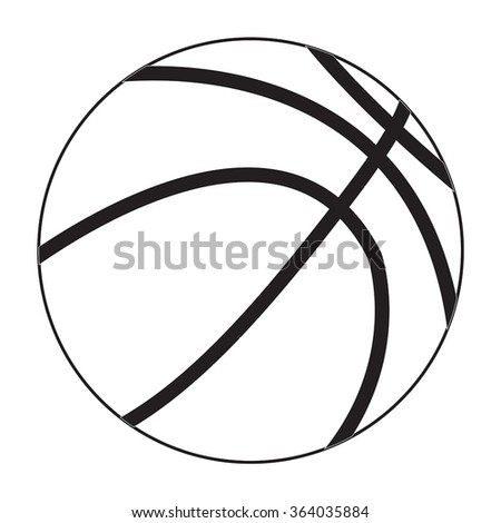Basketball ball icon. Vector illustration isolated on white background.