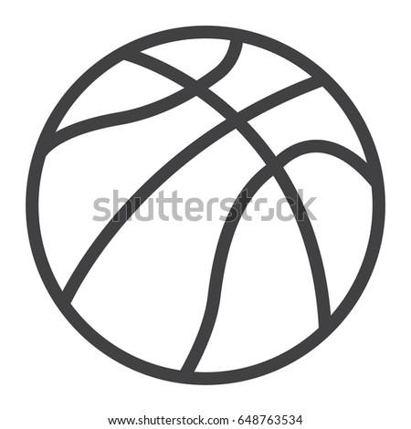 Basketball outline vector