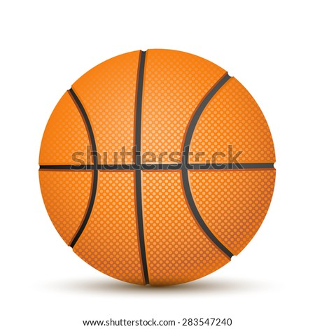 Basketball ball over white background - stock vector