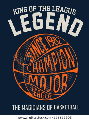 Basketball ball vector design for tee