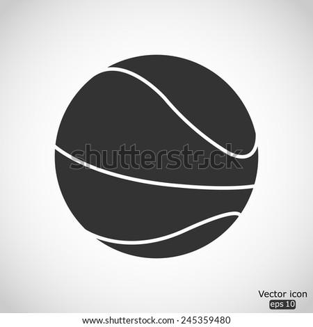 basketball ball vector icon - stock vector