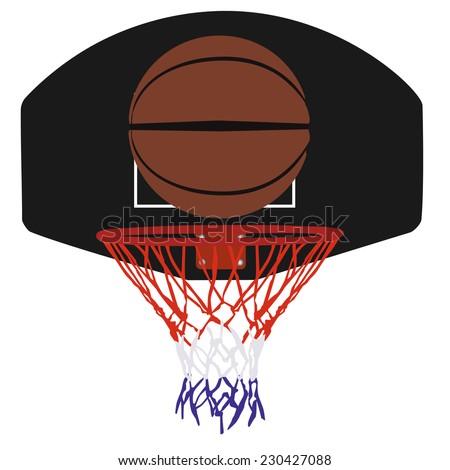 Basketball basket, basketball hoop, basketball and hoop, basketball net - stock vector