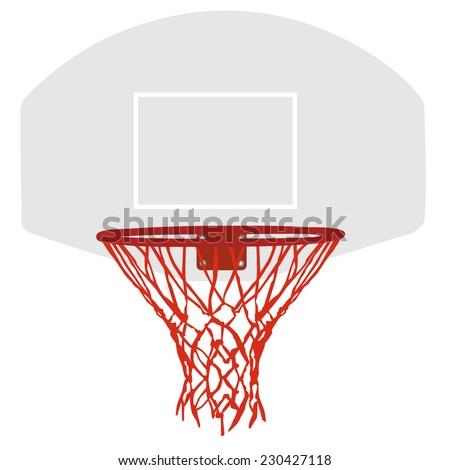 Basketball basket, basketball hoop, basketball net, basketball hoop isolated - stock vector
