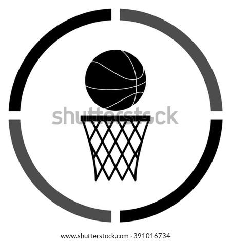 Black basketball vector