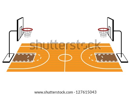 how to draw a basketball court