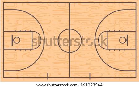 Basketball court - stock vector