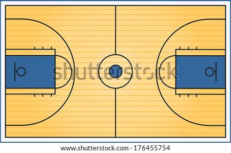 Basketball Court. - stock vector