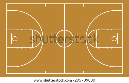 Basketball court. Background for sport strategy. Realistic vector illustration. - stock vector