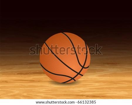 Basketball court background. Vector illustration. - stock vector