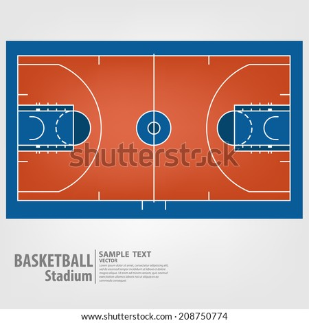 Basketball court - Vector illustration - stock vector