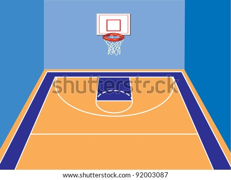 basketball court view stock vector 92003087 shutterstock rh shutterstock com basketball court background vector basketball court layout vector