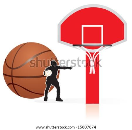 basketball, crucible - stock vector