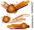 basketball design element - stock vector