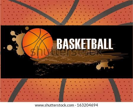 basketball design over pattern background vector illustration  - stock vector