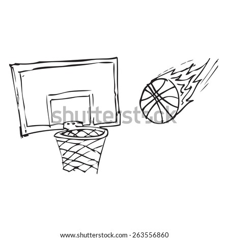 Basketball Doodle - stock vector