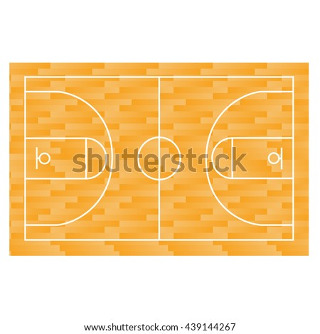 Basketball field, court, yard, FIBA, infographics, horisontal